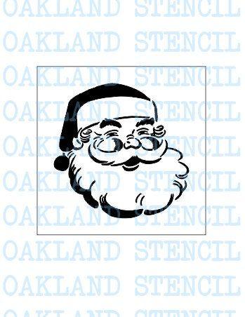 Santa Claus Stencil Reusable Mylar Paint Stencil Christmas Stencil