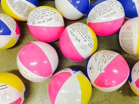 Strandballen als afscheidscadeau - Strandbal, Cadeaus voor