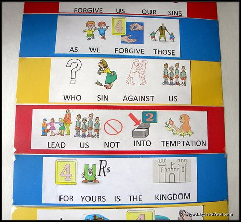 Teaching the Lord's Prayer to younger children