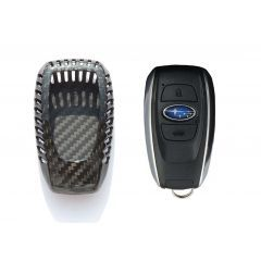 Luxury Carbon Fiber Gloss Car Key Fob Case Cover For Subaru Car Key Fob Carbon Fiber Fobs