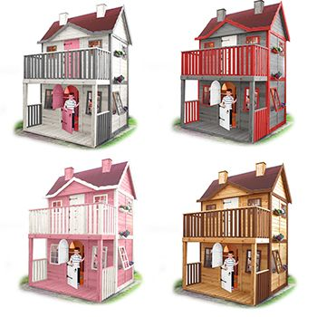 Casita De Jardin Para Ninos De Madera Casette Casette Per Bambini Villa