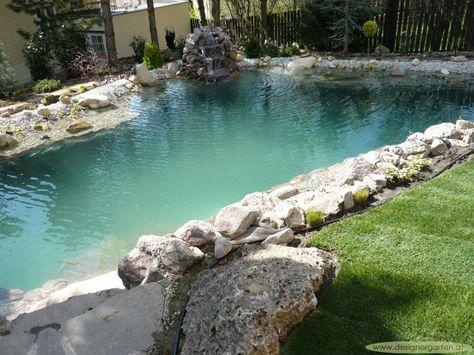 Grumer Gartengestaltung » Bilder\/Videos » Naturpool, Schwimmteich - bilder gartenteiche mit bachlauf