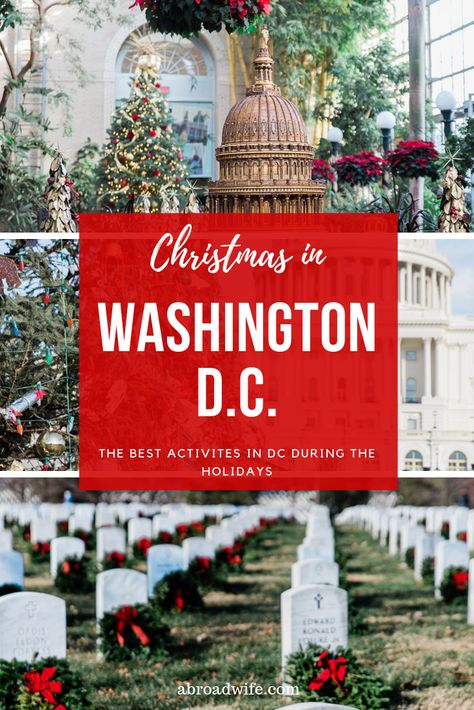 Washington D.C. is one of the best cities to visit during Christmas time. The whole area is full of festive decorations and fun holiday events! Read on to find out the best Washington D.C. Christmas activities! #washingtondc #dcwithkids #christmasindc