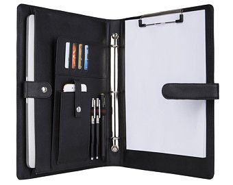 Clipboard Binder High Quality Case Of 12 Padfolio Folder Organization Leather Folder