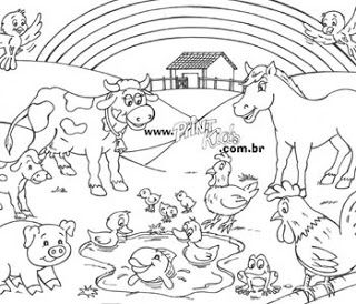 Desenhos De Animais Atividades Colorir Pintar Imprimir Iii