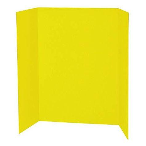 Spotlight 1 Ply Trifold Display Board, 48 Width x 36 Height, Yellow - Yellow