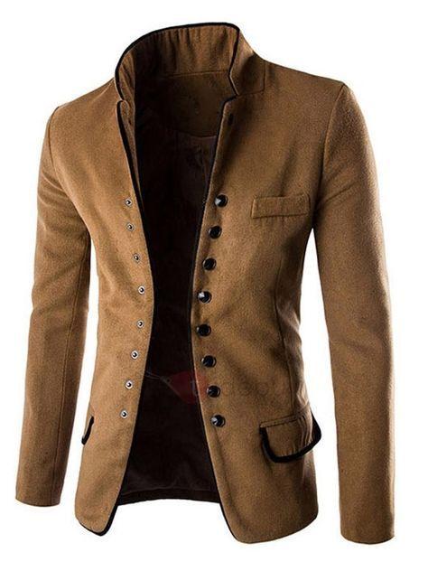mayor selección moda más deseable gran venta de liquidación Chaqueta Hombre Cuello Mao Bolsillo | Moda y Estilo para ...