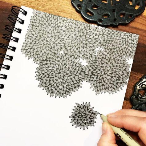 """2,439 gilla-markeringar, 42 kommentarer - Åse Balko (@asebalko) på Instagram: """"I just love to doodle 邏 #doodle #doodeling #drawing #teckning #pattern #mönster #theraphy #terapi…"""""""