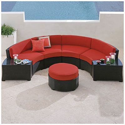 Wilson U0026 Fisher® Melrose 6 Piece Cushioned Curved Sectional At Big Lots.    Furniture For New Apt   Pinterest   Backyard, Backyard Furniture And  Outdoor ...
