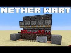 Minecraft Simple Automatic Nether Wart Farm Fully Afkable Tutorial Youtube Minecraft Farm Minecraft Redstone Minecraft