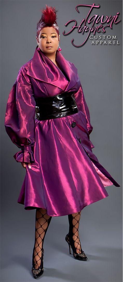 Tawni Haynes Trench Dress with Custom Patent Leather Belt