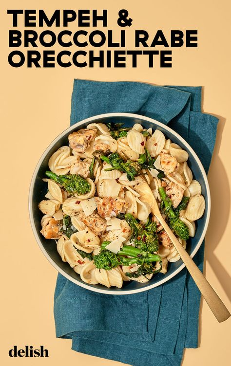 You won't miss the cheese in this creamy vegan orecchiette.