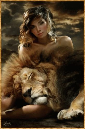 Woman Lion GIF - Woman Lion - Discover & Share GIFs