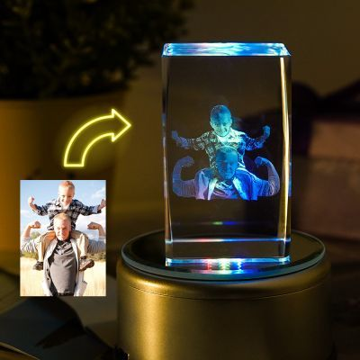 Custom Led Art Portrait Lamp In 2020 Photo Lamp Crystal Lamp Engraved Crystal