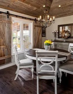 50 Lovely Farmhouse Dining Room Tables Chairs Photo Inspirations