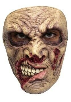 Infestado Maggot and Worm Zombie Adult Full Mask