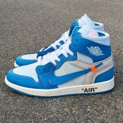 Off White X Air Jordan 1 Powder Blue Blue White Aq0818 148 Mens