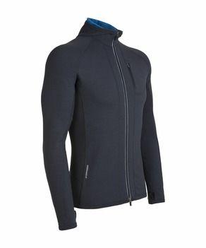 260 G//M ² Icebreaker Quantum Long Sleeve Zip Hood Men/'s Merino Wool
