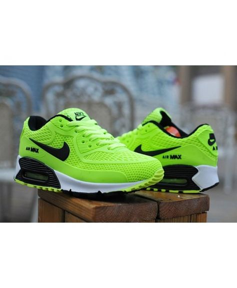 check out 001e9 26ad5 Kids Nike Air Max 90 Green Black 6809331-034