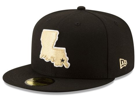 53b304402 New Orleans Saints New Era NFL Logo Elements Collection 59FIFTY Cap ...