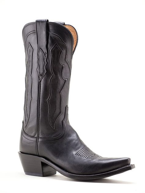 Ladies Lucchese Black Ranch Hand Boots M5006.S54 Texas