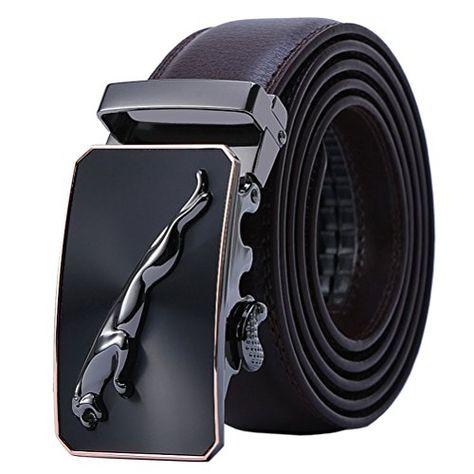 Ceinture Hommes en Cuir Véritable Jaguar Business Suits Casual Boucle  Réversible Avec Cliquet Automatique 6669e2b4102