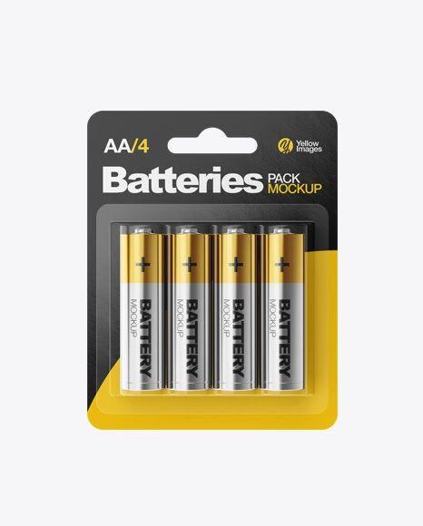 Download Psd Mockup 4 Pack Aa Alkaline Batteries Battery Energy Metallic Mockup Pack Package Psd Mockup Free Psd Psd Mockup Template Mockup Psd