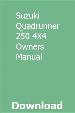suzuki quadrunner 250 parts manual