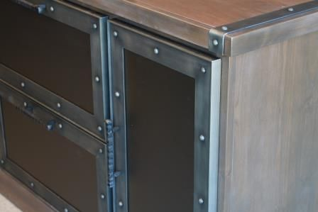 Metal Cabinet Doors Aren T Just For Kitchens And Bathrooms Create A Custom Entertainment Center In Your Living Roo Cabinet Doors Custom Cabinet Doors Cabinet