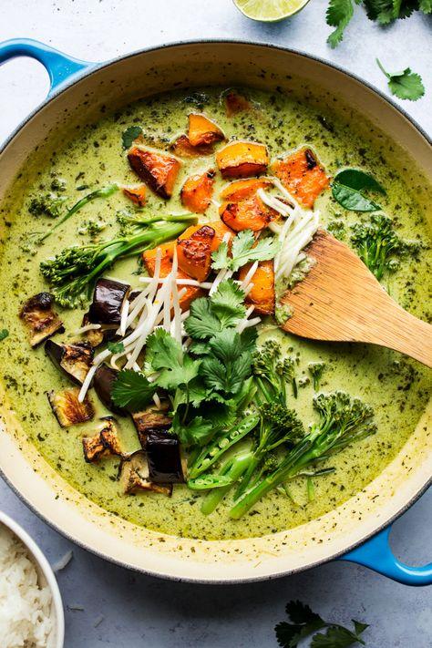 Vegan Thai Green Curry Recipe Curry Recipes Vegan Thai Green Curry Green Curry Vegan