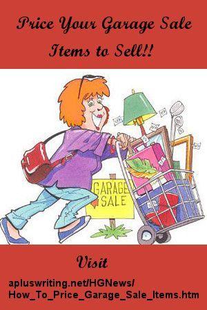 How To Price Garage Sale Items Garage Sale Ideas Garage Sale