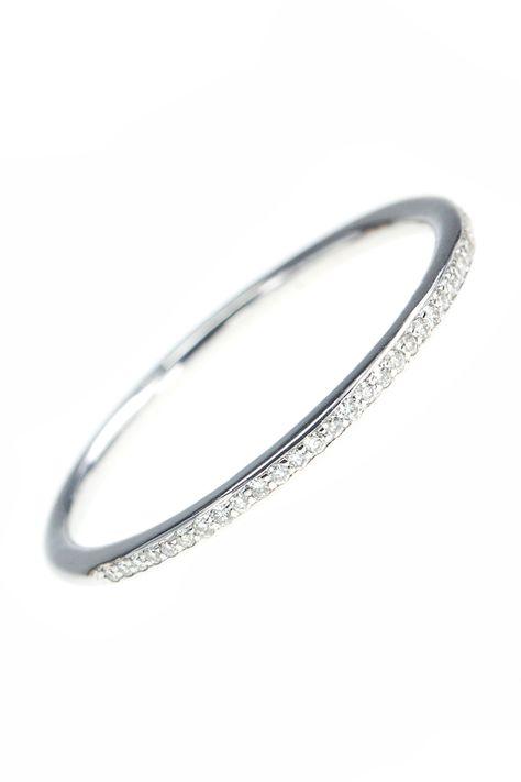 diamant memoire ring weissgold fein zart brillanten