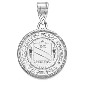 925 Sterling Silver Rhodium-plated Laser-cut University of Iowa Large Crest Pendant