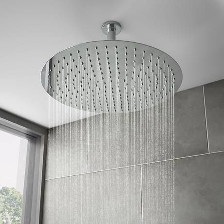 Cruze Shower Package Inc 400mm Ceiling Mounted Round Head Wall Mounted Handset Victorian Plumbing Uk In 2020 Wall Mount Shower Accessories Fixed Shower Head