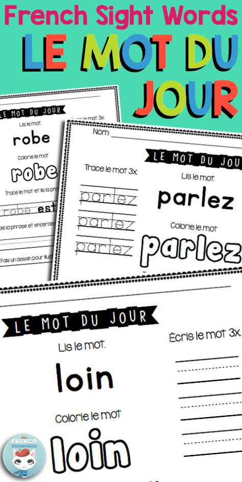 106 best Vocabulaire images on Pinterest French people, Spelling