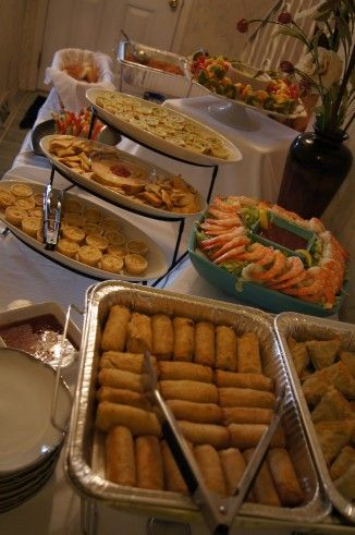 Cater Your Own Wedding Leading The Good Life Food Display Table Food Displays Wedding Buffet Food