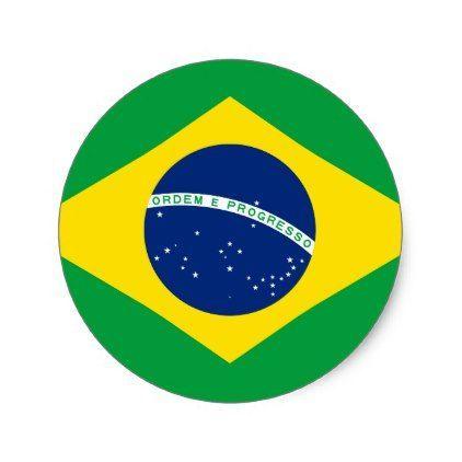 Brazil Flag Classic Round Sticker Zazzle Com In 2021 Brazil Flag Flag Flag Icon