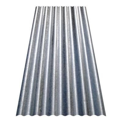 Gibraltar Building Products 10 Ft Corrugated Galvalume Steel 26 Gauge Roof Panel 23992 The Home Depot Steel Roof Panels Corrugated Metal Roof Plastic Roofing