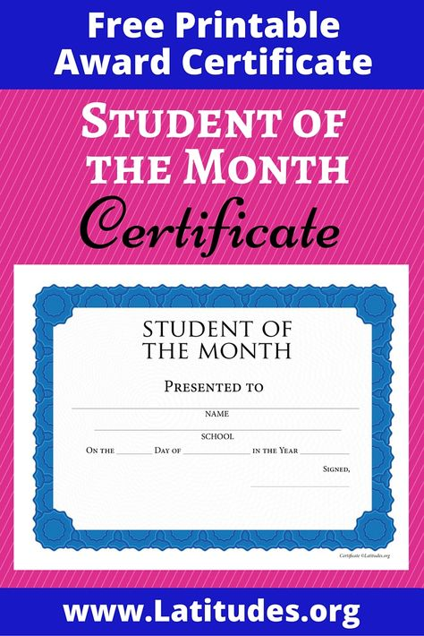Florida National University student and staff member Ms Gabriela - best of printable student of the month certificate