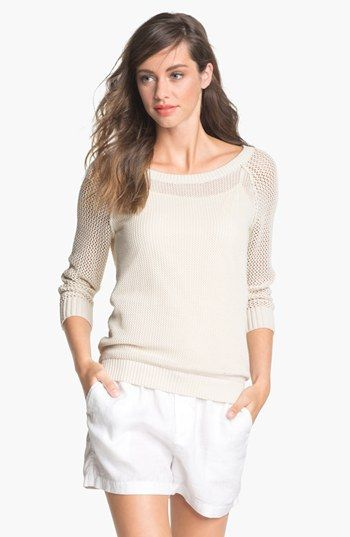 Caslon Open Knit Sweater Available At Nordstrom 49 Comes In Dark