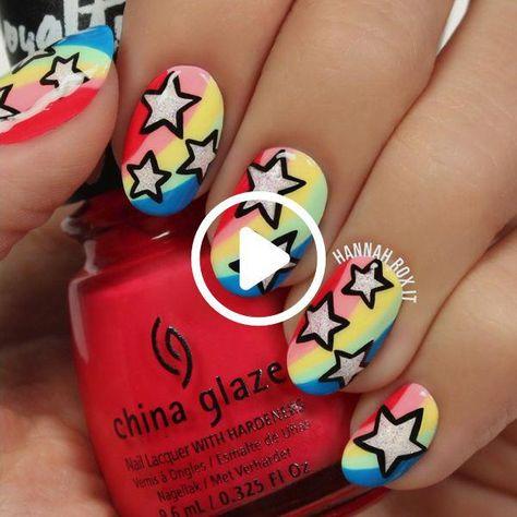 Make Your Nails the Star with This Cool Manicure #darbysmart #beauty #nailpolish #nailart #naildiy #naildesign #nailtutorial #beautifulnails