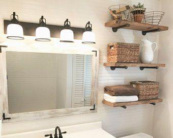 Bathroom Shelves 2020 Tekli Raf Raf Ahsap Raf