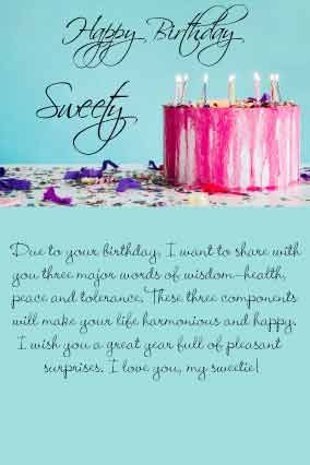 Happy Birthday Letter For Daughter From Mom With Lovely Birthday