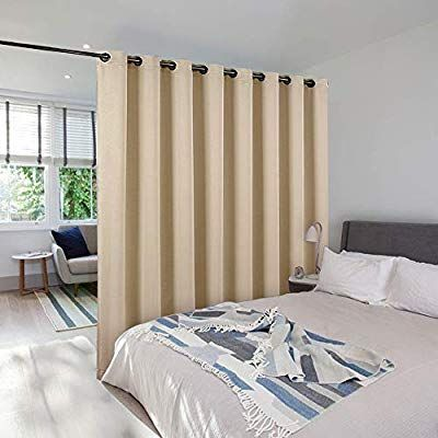 Amazon Com Nicetown Room Divider Curtain Screen Partitions Wide