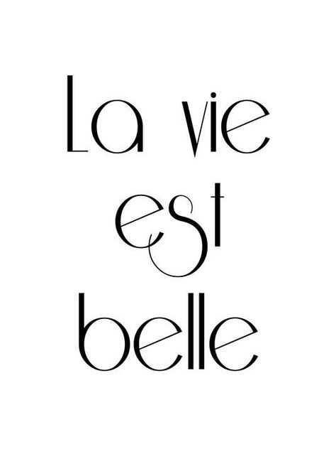 Affiche Avec Texte En Français La Vie Est Belle