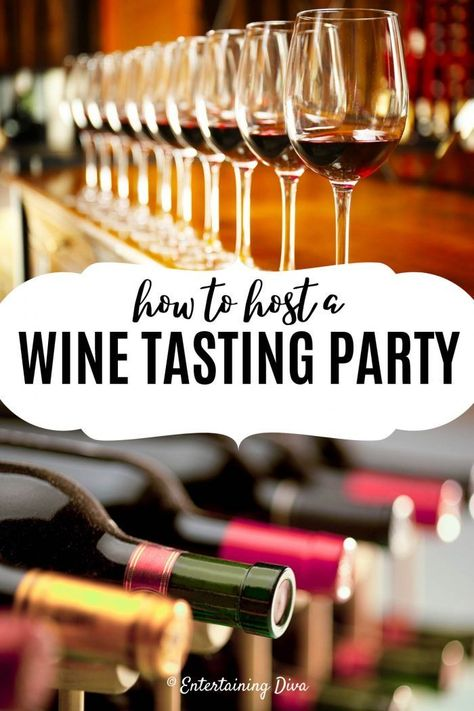 Learn everything you need to know to host a wine tasting party at home. Whether it's a bridal shower, a special birthday or just for the two of you, a wine tasting party is a fun and easy way to celebrate. Wine Tasting Events, Wine Tasting Party, Beer Tasting, Wine Parties, Tasting Menu, Picnic Parties, Wine And Cheese Party, Wine Cheese, Wine Night