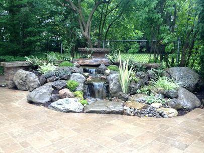 Wasserfall Landschaftsideen Dekoration Ideen Wasserfall Garten Garten Landschaftsbau Hintergarten
