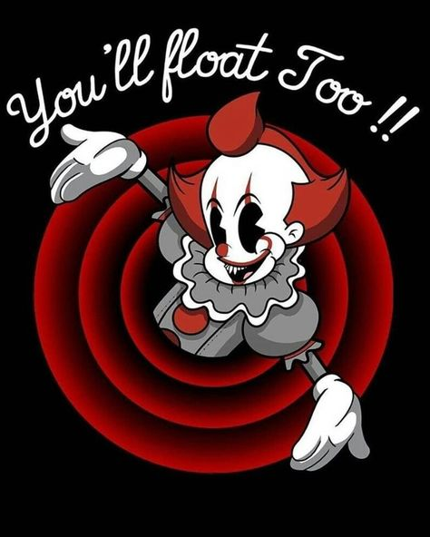 Check out this awesome 'Youll+Float+Too' design on Cartoon Kunst, Cartoon Art, Scary Movies, Horror Movies, Horror Movie Characters, Princesas Disney Zombie, Desenhos Gravity Falls, It The Clown Movie, Funny Horror
