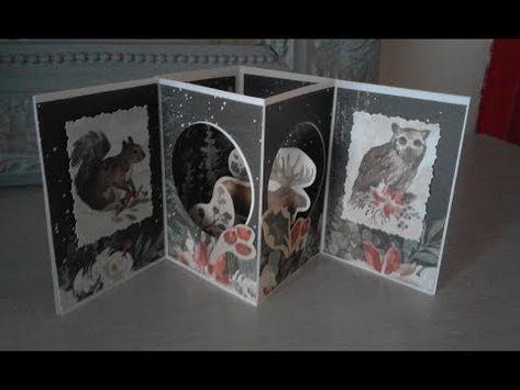 Carte Pop Up 3d A Poser Noel Hiver Anniversaire Youtube En