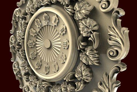 Engraver Carving Machine Relief Artcam 3d STL Model CNC C043 Clock